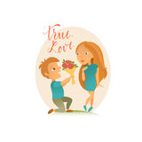 Greeting card with Happy Valentine`s Day. Royalty Free Stock Photos