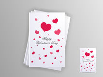 Greeting card for Happy Valentines Day celebration. Stock Images