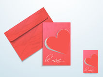 Greeting card for Happy Valentines Day. Royalty Free Stock Photo