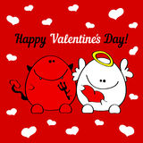 Greeting card Happy Valentines Day! Royalty Free Stock Photo