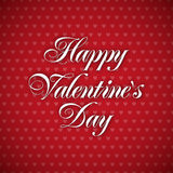 Greeting Card - Happy Valentines Day Stock Photography
