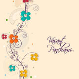 Greeting card for Happy Vasant Panchami celebration. Stock Photo