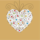 Greeting card with heart Stock Images