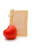 Greeting card and heart Royalty Free Stock Photo
