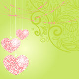 Greeting card with heart Royalty Free Stock Photos