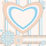 Greeting card with heart Royalty Free Stock Photography