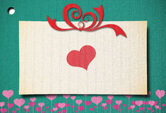 Greeting card with heart Royalty Free Stock Photo