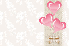 Greeting card,Heart balloons -EPS10 Stock Photography
