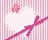 Greeting card with heart Stock Image