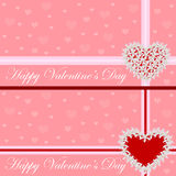 Greeting card - heart of flowers. Valentine's day. Vector illustration Royalty Free Stock Photo