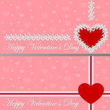 Greeting card - heart of flowers. Valentine's day. Vector illustration Stock Images