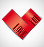 Greeting card with heart. Royalty Free Stock Photo