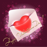 Greeting card with heart in the message Stock Photos