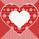 Greeting card with heart, nordic style Stock Photo