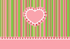 Greeting card with heart Royalty Free Stock Image