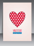Greeting card with heart shape for Valentines day Stock Photography