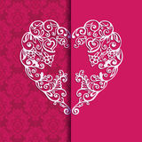 Greeting card  heart for Valentin Day. Royalty Free Stock Photos