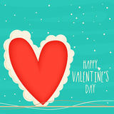 Greeting card with heart for Valentine's Day. Stock Photos
