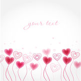 Greeting card with hearts Stock Image