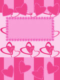 Greeting card with hearts Stock Photos