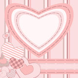 Greeting card with hearts Royalty Free Stock Image
