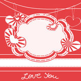 Greeting card with hearts Stock Photo
