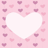 Greeting card with hearts Royalty Free Stock Photography
