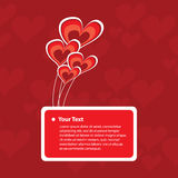 Greeting Card with Hearts Design Stock Image