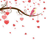 Greeting card with hearts Royalty Free Stock Photos