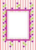 Greeting card with hearts Stock Images