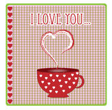 Greeting card with hearts and love vector Stock Photos