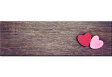 Greeting card with hearts Royalty Free Stock Photo