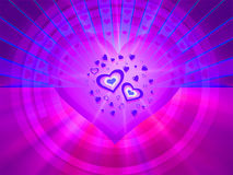 Greeting card with hearts symbol Stock Images