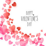 Greeting card with hearts for Valentine's Day. Stock Images