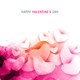 Greeting card with hearts for Valentine's Day. Royalty Free Stock Photography