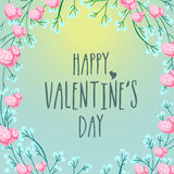 Greeting card with hearts for Valentine's Day. Stock Photos