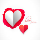 Greeting card with hearts for Valentine's Day. Royalty Free Stock Image