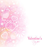 Greeting card with hearts for Valentine's Day. Royalty Free Stock Photos