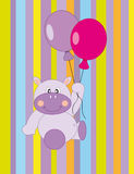 Greeting card. hippo Royalty Free Stock Image