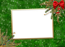 Greeting card for the holiday, with a red ribbon Royalty Free Stock Photos