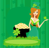 Greeting card for the holiday St. Patrick's Day Royalty Free Stock Photo