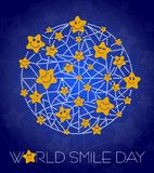 Background World Smile Day line. Greeting card. Holiday - World Smile Day. concept of charging the smile of the whole world Stock Photos
