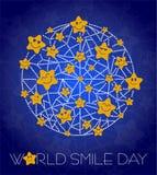 Background World Smile Day line Stock Photos