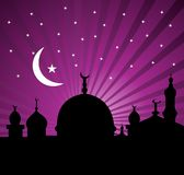 Greeting card for holy month of Ramadan Kareem Stock Photos