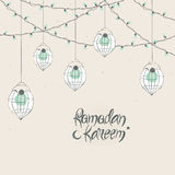 Greeting card for holy month Ramadan Kareem celebration. Stock Photography