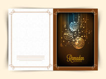Greeting card for holy month Ramadan Kareem celebration. Stock Image
