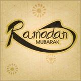 Greeting card for holy month, Ramadan Kareem. Royalty Free Stock Photo