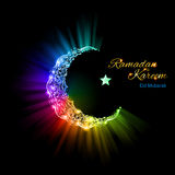 Greeting card of holy Muslim month Ramadan Royalty Free Stock Photography