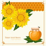Greeting card Honey life Stock Images