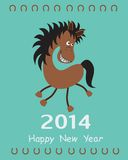 Greeting card with a Horse.  Stock Images